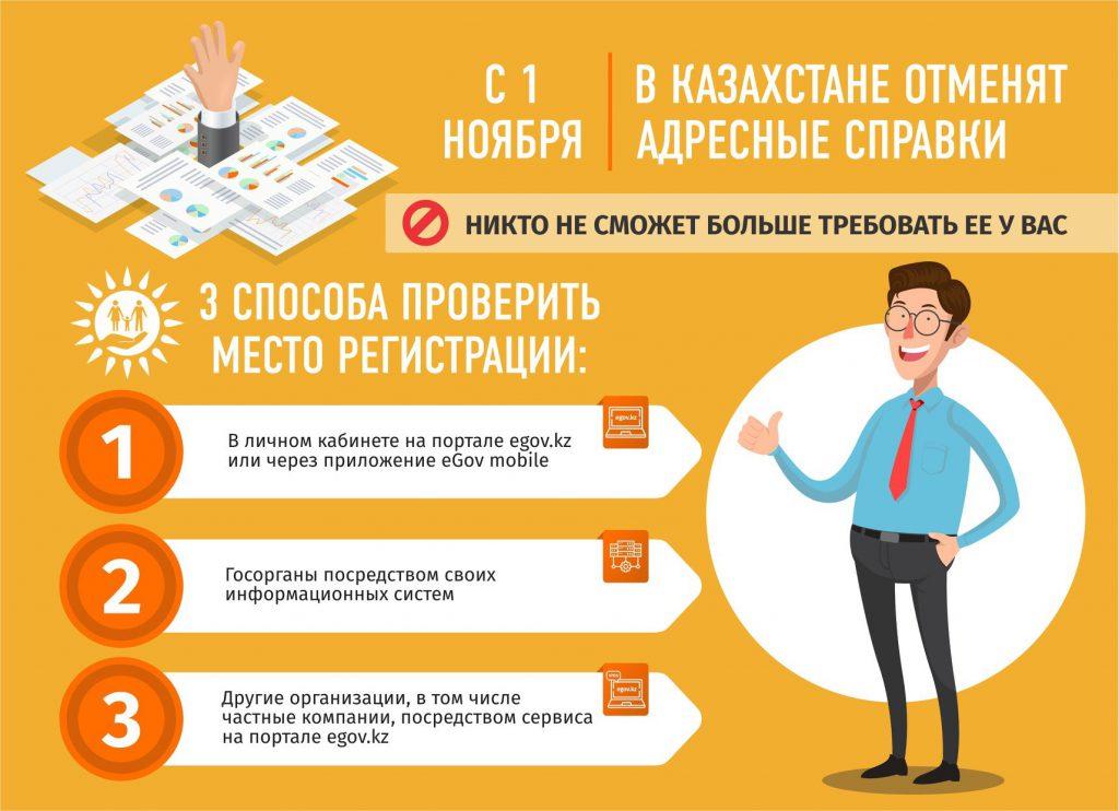 В Казахстане отменят адресные справки